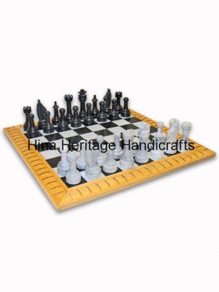 black_white_chess_board_side