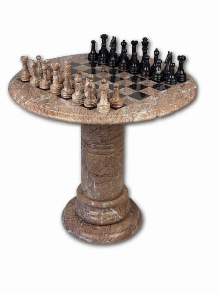 Marble & Onyx Chess Tables